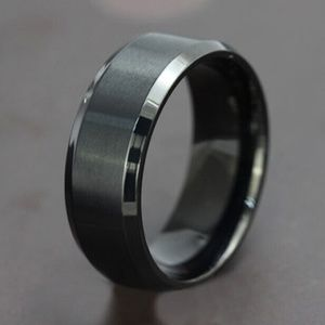 Other - Black stainless steel mens ring,  wedding ring